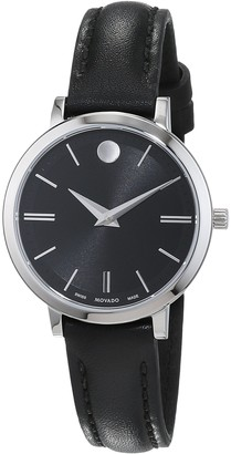 Movado Womens Analogue Classic Quartz Watch with Leather Strap 607094