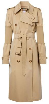 Burberry Panelled Sleeve Kensington Heritage Trench Coat