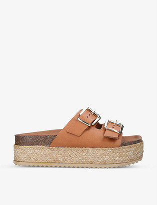 Kurt Geiger Ortona leather flatform sandals