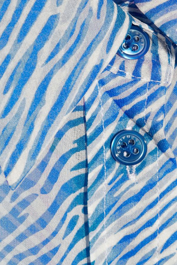 Equipment Signature zebra-print silk-chiffon shirt