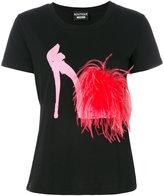 Moschino shoe print T-shirt - women - Cotton - 42