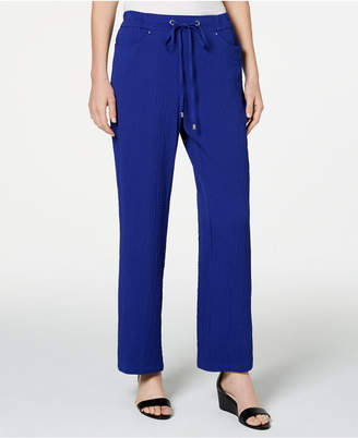 JM Collection Crinkle Wide-Leg Pants