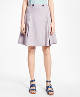 Brooks Brothers Linen-Blend A-Line Skirt