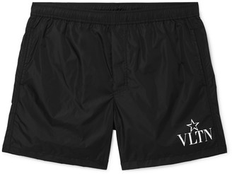 Valentino Short-Length Logo-Print Swim Shorts