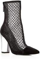 KENDALL + KYLIE Women's Haven Embroidered Mesh & Suede High Block Heel Booties - 100% Exclusive