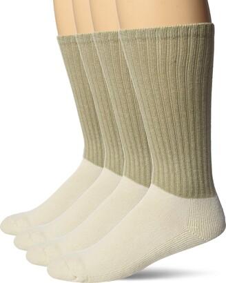 Jefferies Socks Men's Military Acrylic Antimicrobial Rib Crew Boot 4 Pack