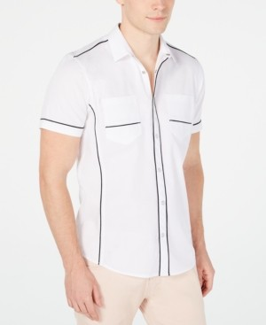 INC International Concepts Inc Men's Piped Ripstop Shirt, Created for Macy's