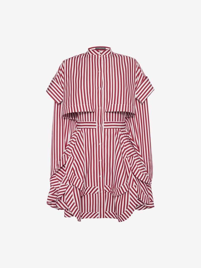 Alexander McQueen Deconstructed Mini Shirt Dress