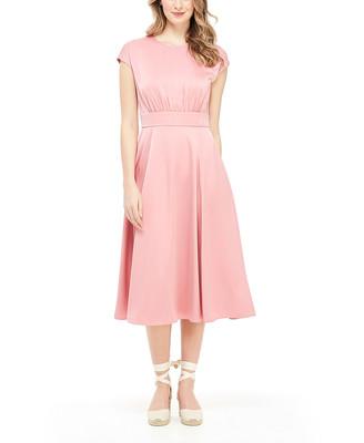 Gal Meets Glam Women's Casual Dresses TEA - Tea Rose Julia Cap-Sleeve Midi A-Line Dress - Women & Juniors