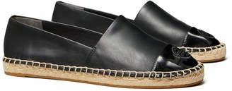 Tory Burch Color-Block Mixed-Leather Espadrille