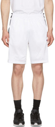 Champion Reverse Weave White and Navy Tearaway Shorts
