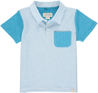 Me & Henry Boy's Contrast Striped Short-Sleeve Polo Shirt, Size 2-6