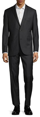 Saks Fifth Avenue Trim-Fit Casual Wool Suit