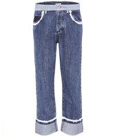 Miu Miu Lace-trimmed jeans