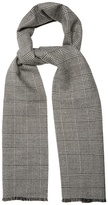 Alexander McQueen Prince of Wales-checked wool scarf