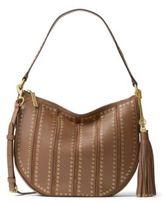 MICHAEL Michael Kors Brooklyn Medium Grommeted Leather Hobo Bag