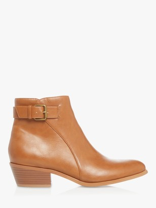 Head Over Heels Pilas Low Block Heel Ankle Boots, Tan