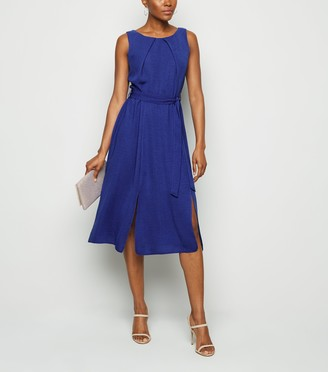 New Look Bright Split Hem Midi Dress