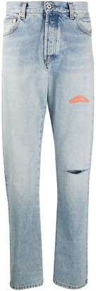 Heron Preston Faded Logo Print Jeans