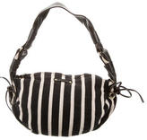 Kate Spade Leather & Striped Jersey Shoulder Bag