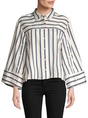 BCBGMAXAZRIA Striped Button-Down Shirt