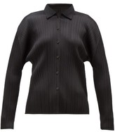 Pleats Please Issey Miyake Technical-pleated Shirt - Womens - Black