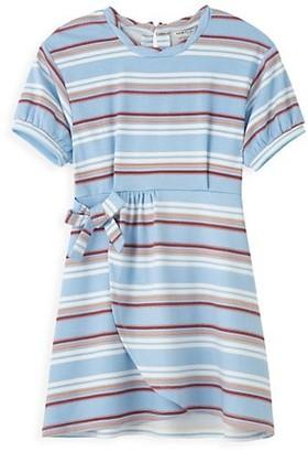Habitual Little Girl's & Girl's Mock Wrap Striped Dress