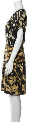 Blumarine Printed Knee-Length Dress Black