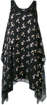 Opening Ceremony floral drape dress - women - Viscose - 4