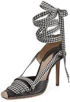 Altuzarra Gingham Ankle-Wrap d'Orsay Pump