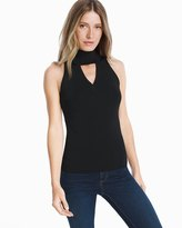 White House Black Market Black Sleeveless Cutout Pullover Sweater
