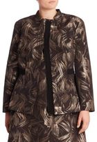 Lafayette 148 New York, Plus Size Plus Spark Print Belle Jacket