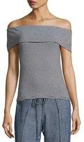 Trina Turk Prizma Off-the-Shoulder Striped Jersey Top, Black