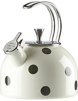 Kate Spade All in Good Taste Deco Dot Whistle While You Work Enameled Steel Tea Kettle