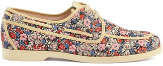 Gucci Men's Liberty floral boat shoe
