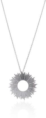 Eliza J Bautista Large Radial Sunburst Necklace In Sterling Silver - Short Chain