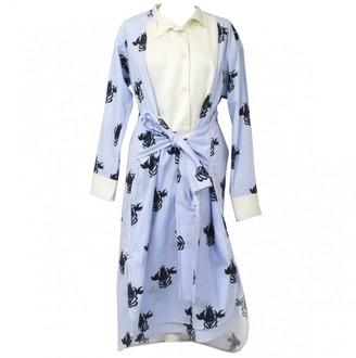 Loewe Blue Cotton Dress for Women