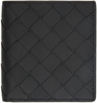 Bottega Veneta Black Small Intrecciato Bifold Wallet