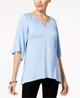 Cable & Gauge Elbow-Sleeve Keyhole Top