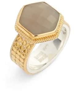 Anna Beck Grey Moonstone Hexagon Ring
