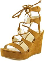 Nine West Kaliope50 Women US 5.5 Brown Wedge Sandal