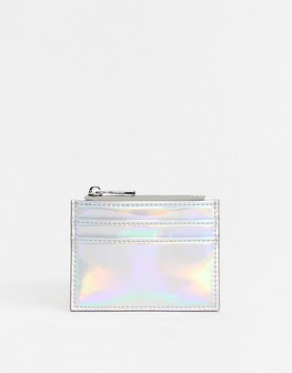 ASOS DESIGN metallic coin purse and cardholder