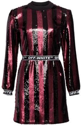Off-White Stripes Sequin Dress