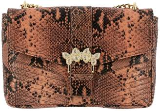 Twin-Set Twinset Twin Set Crossbody Bags Shoulder Bag In Python-print Leather With Rhinestone Butterflies