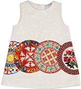 Dolce & Gabbana Mambo-Print Brocade Sleeveless Dress & Bloomers Set