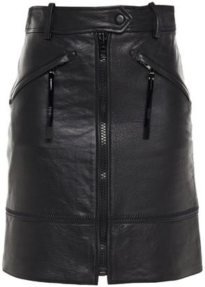 Kenzo Textured-leather Mini Skirt