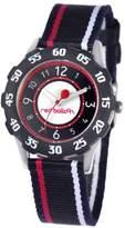 Red Balloon Kids' W000349 Sporty Boy Tween Stainless Steel Black Bezel Sport Stripped Strap Watch