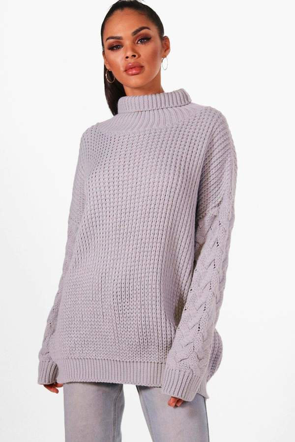 e1f42468a4487b Cable Knit Roll Neck Jumpers - ShopStyle UK