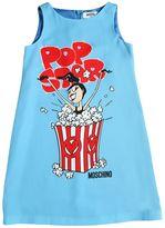 Moschino Popcorn Printed Crepe De Chine Dress