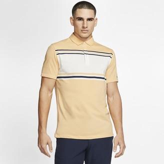Nike Mens Striped Golf Polo Dri-FIT Player